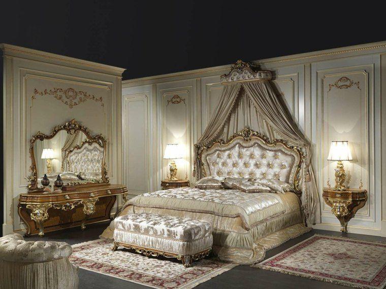 chambre style baroque luxueuse et pleine de caract re baldaquin baroque et lits. Black Bedroom Furniture Sets. Home Design Ideas