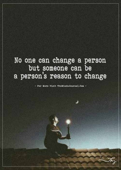 No One Can Change A Person