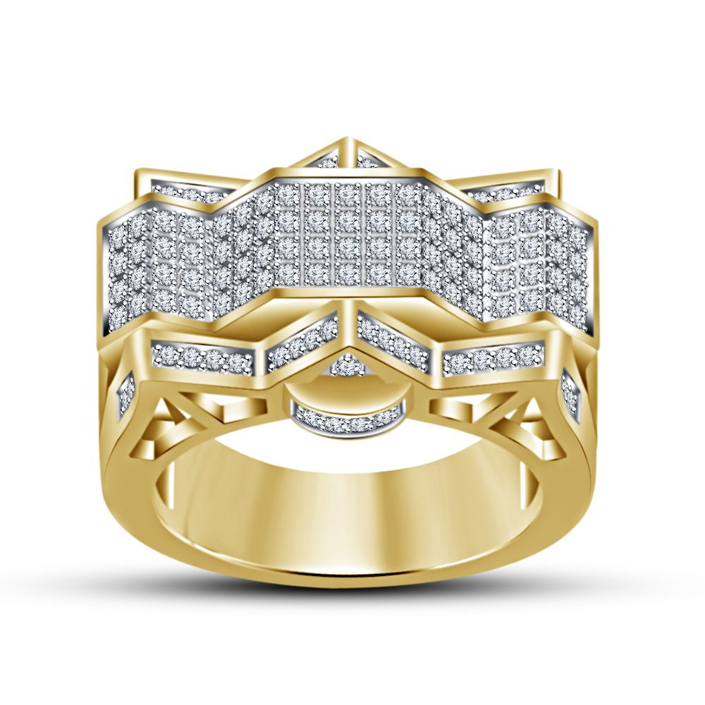 Classic RD White Cubic Zirconia 14k Yellow Gold Filled