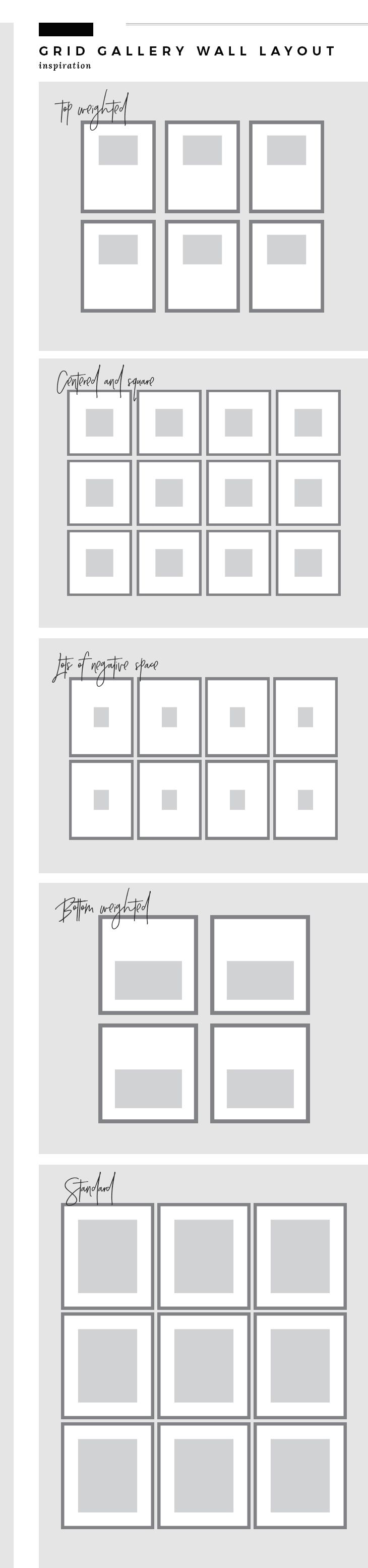 Your Guide to Creating the Perfect Grid Gallery Wall | Gallery wall ...