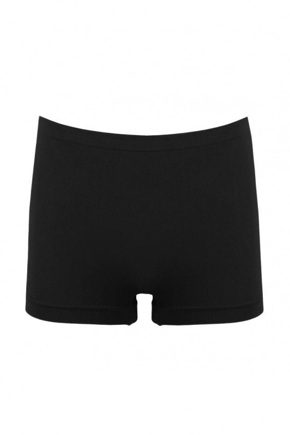 Sugar Lips Black Seamless Boy Shorts