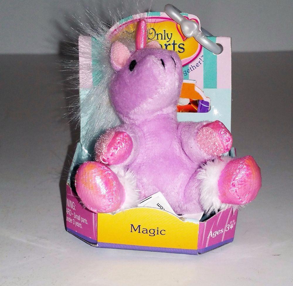 Only Hearts Club Pink Unicorn Magic Keychain Zipper Pull Retired New