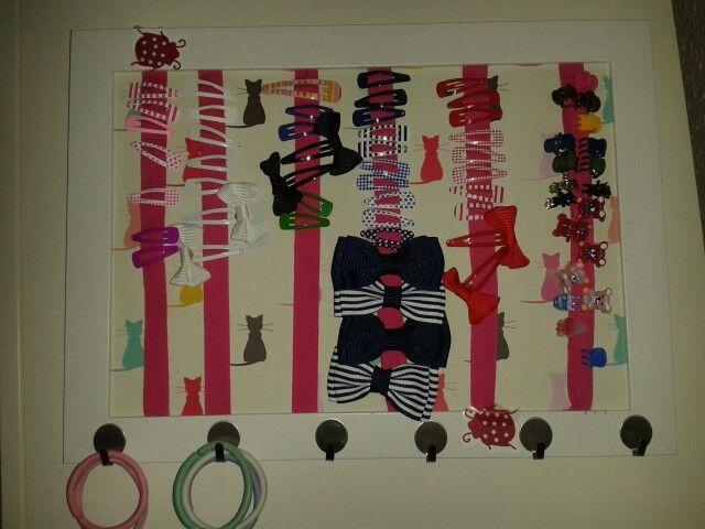 Organizador horquillas con marco ikea   Hecho por mi   Pinterest