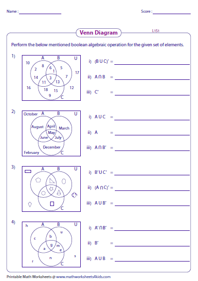 This compilation of worksheets covers venn diagrams basics this compilation of worksheets covers venn diagrams basics activities and word problems ccuart Gallery