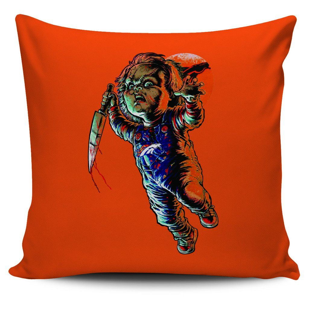 chucky denver broncos pillow covers