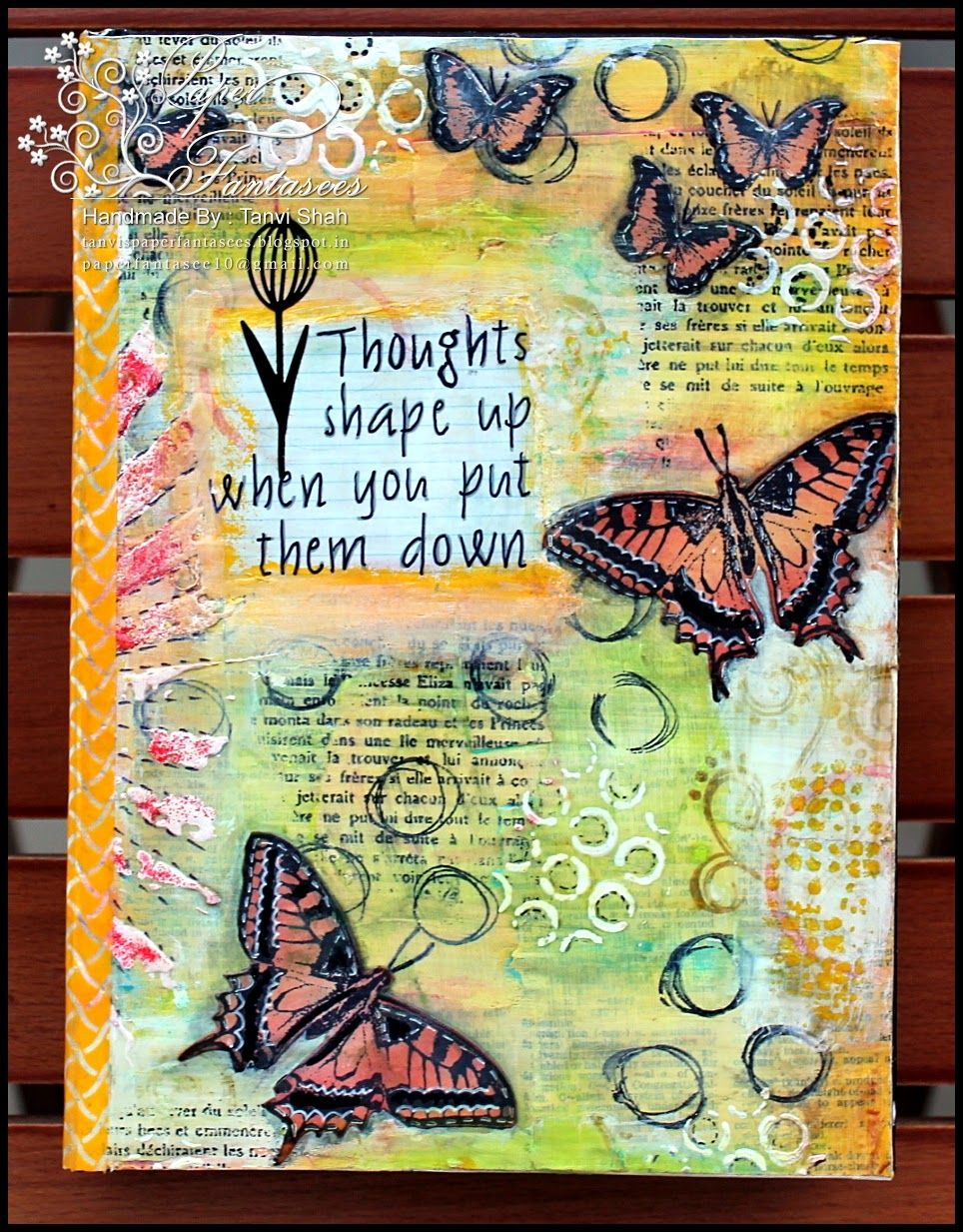 Paper fantasees the craft blog journal covers journal for Journal painting ideas