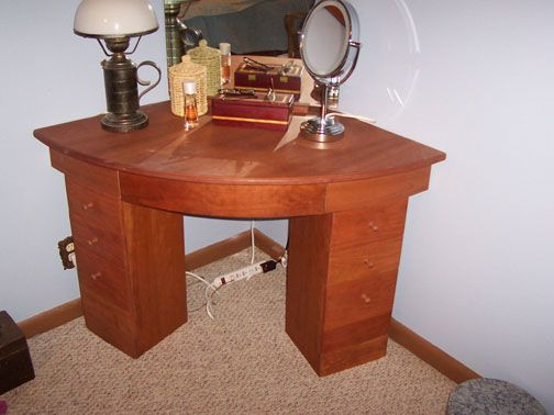 corner vanity table cherry corner dressing table with