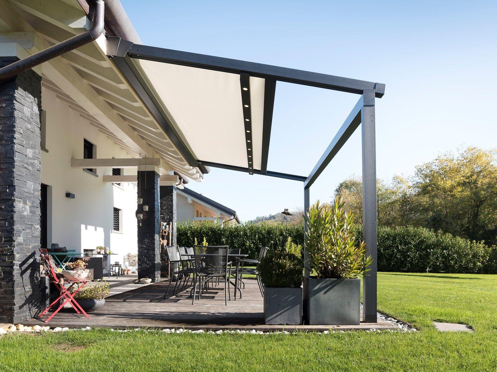 Motorized Pergola With Sliding Cover Xtesa Plain By Ke Outdoor Design Outdoor Design Pergola Outdoor Areas