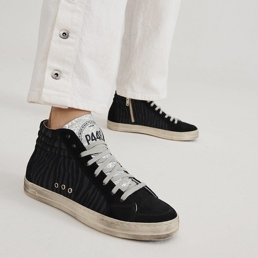 the Skate Black Zebra features a cream