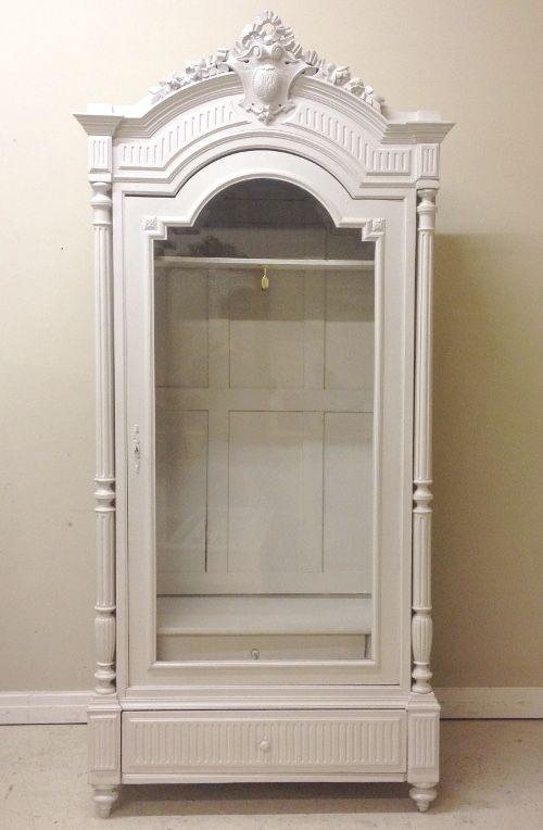 Beautiful French Antique Single Door Armoire / French Furniture / Painted  Skimming Stone / Frenchfinds.