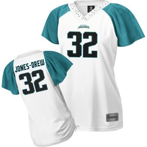 Reebok Maurice Jones-Drew Jacksonville Jaguars Women s Field Flirt Premium  Fashion Jersey – White a4a23dc0d