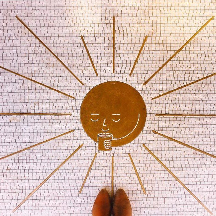 """4,804 Likes, 14 Comments - I Have This Thing With Floors (@ihavethisthingwithfloors) on Instagram: """"Hello sunshine ☕️ #monday #ihavethisthingwithfloors by @lazypapalote #mosaic #coffee"""""""