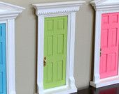 Fairy Door - Finished - Your Choice of Color and Flat roof only ...