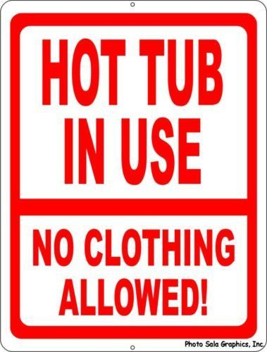 No Swimsuits After Dark style 1 Novelty Funny Metal Sign 8 in x 12 in