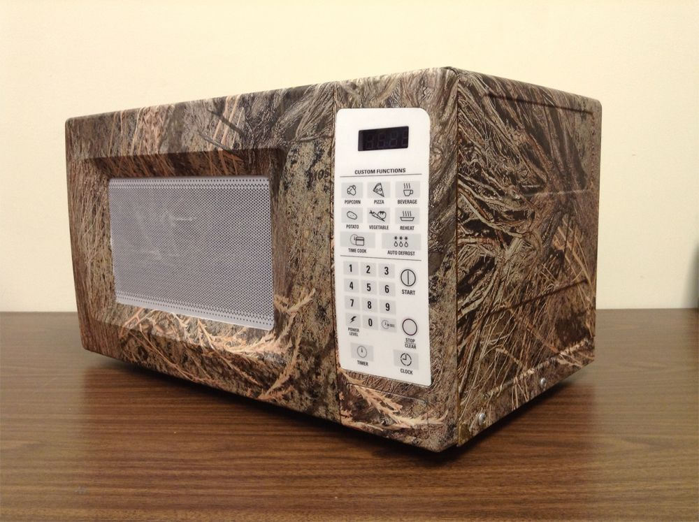 Yup it 39 s a camouflage microwave if you are wanting to put for Camo kitchen ideas