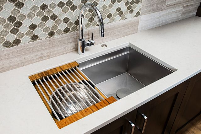 The Galley Ideal Workstation 3 Stainless Steel Clean Up Kitchen Sink.