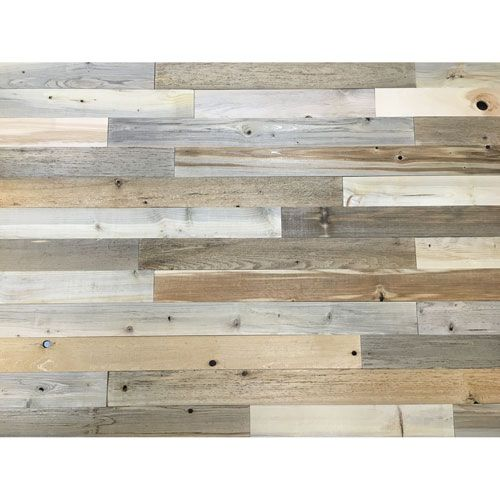 Peel And Stick Reclaimed Natural Wood, 3 Inch Planks