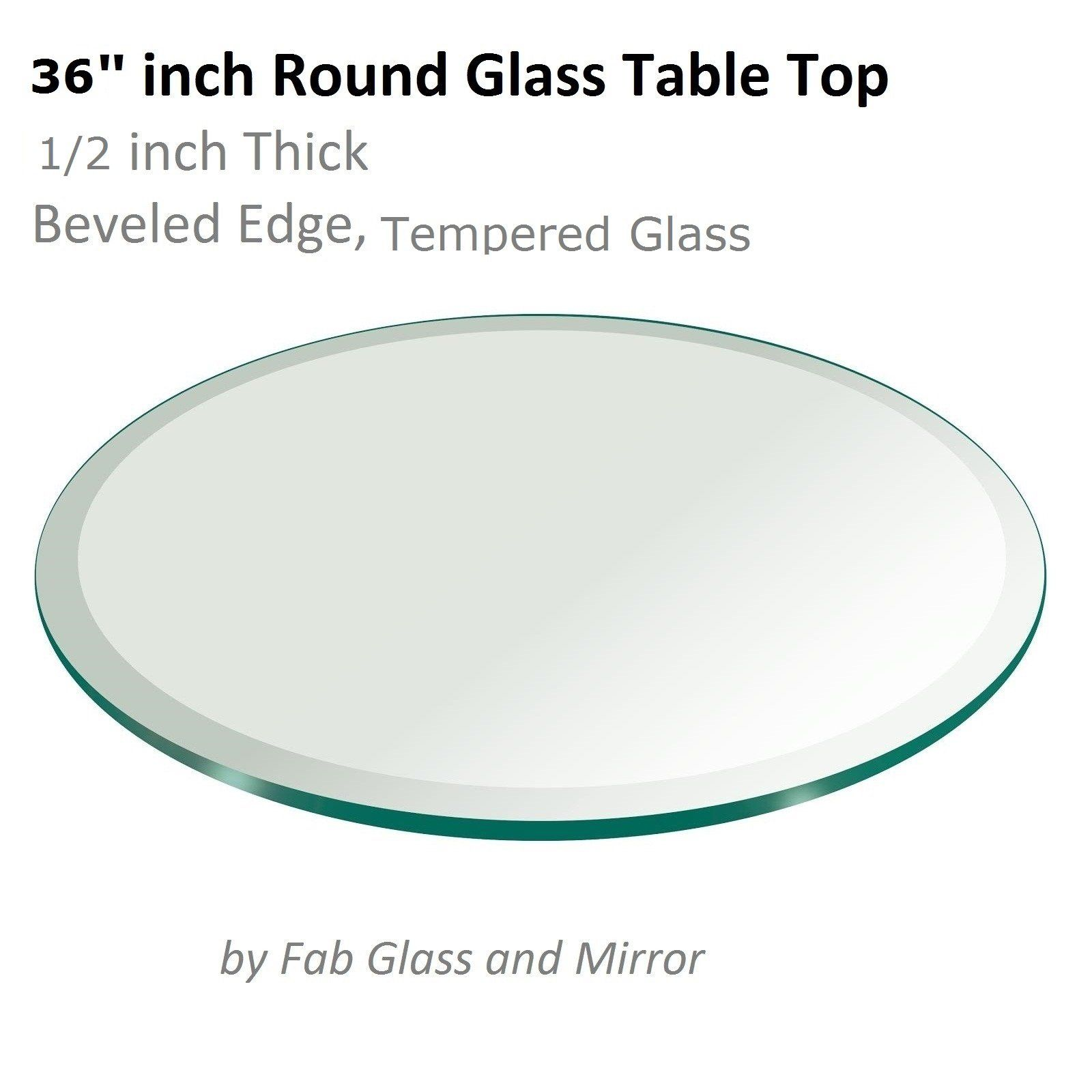 36 Inch Round Glass Table Top 1 2 Thick Tempered Beveled Edge By Fab Glass And Mirror You Can Find More Details By Visiting Round Glass Table Top Glass Table Tempered Glass Table Top