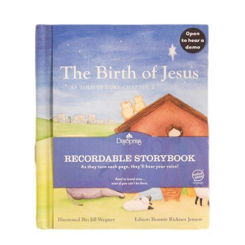 Recordable Christmas Books.Hallmark Recordable Book The Birth Of Jesus By Bonnie