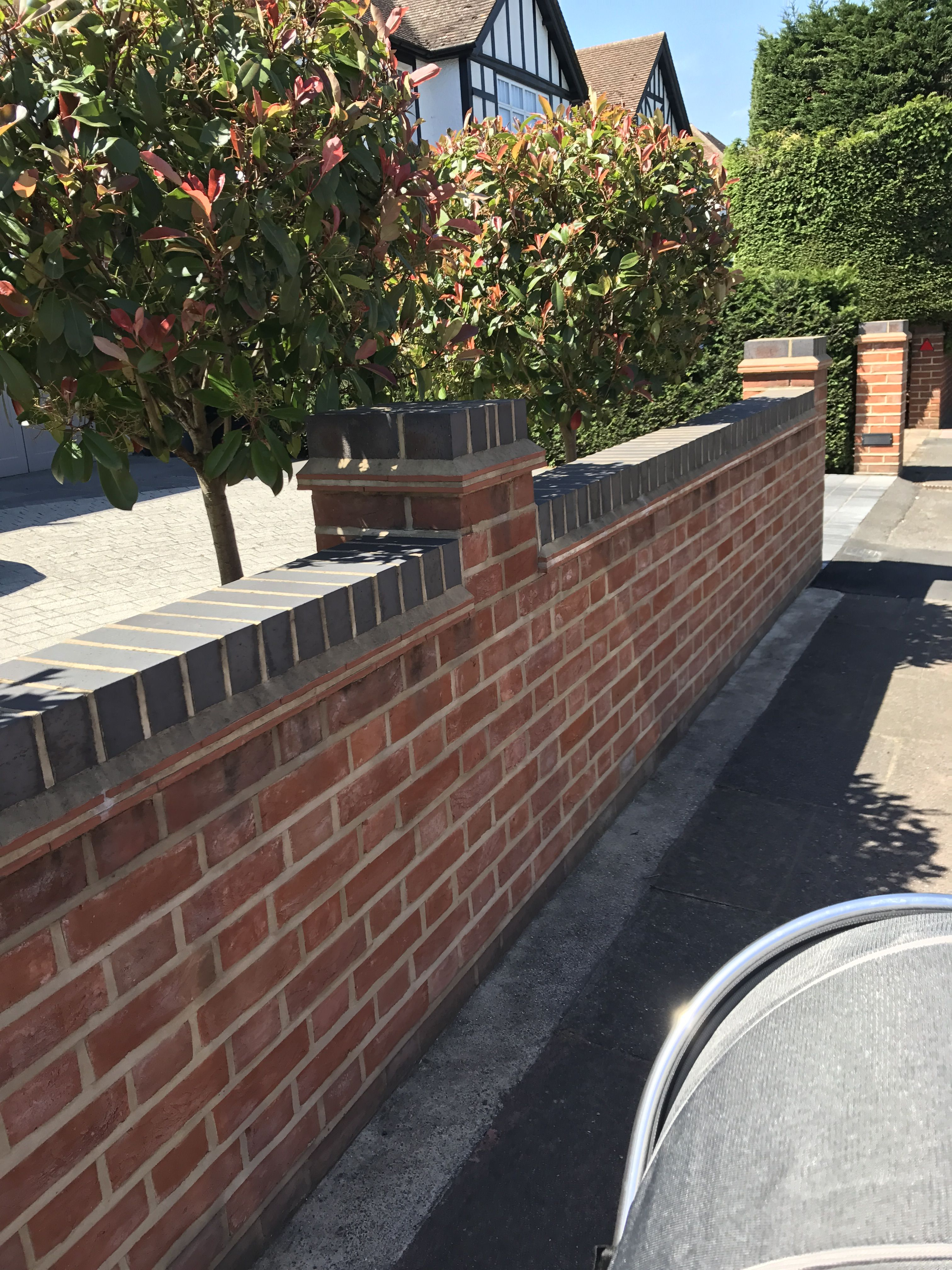 Contrasting Brick Over Tile Coping забор Pinterest Boundary