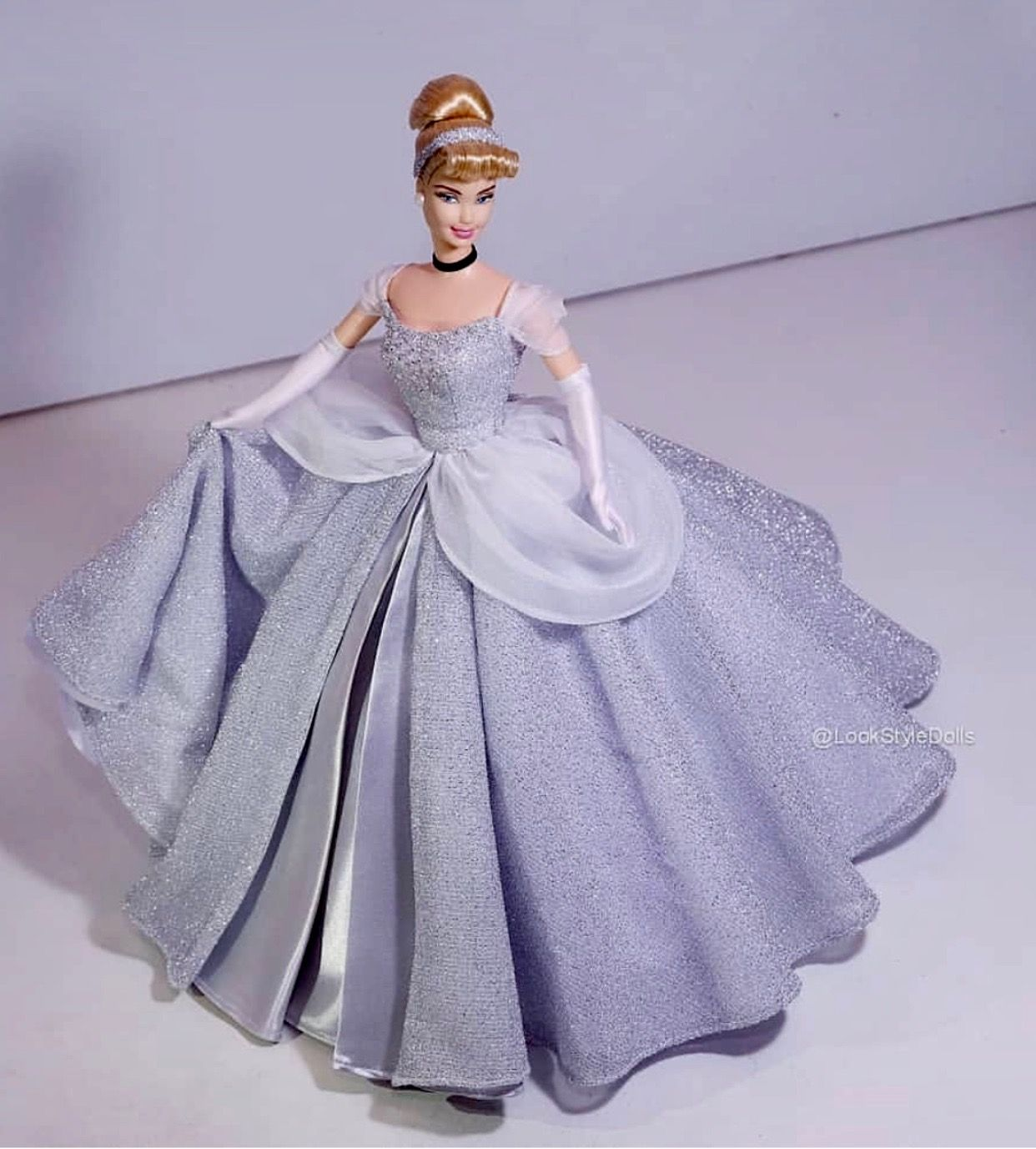 Fashion Outfit Dress Party Flat Gown for Barbie Dolls Clothes X-mas Gift Girls
