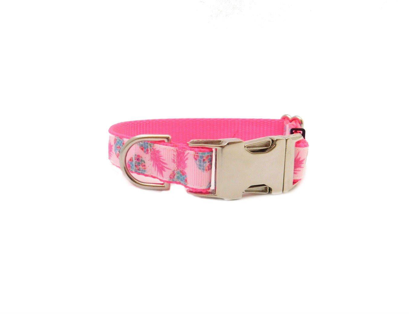 Personalized Dog Collar Pineapple Dog Collar Custom Dog Collar Preppy Collar Puppy Collar