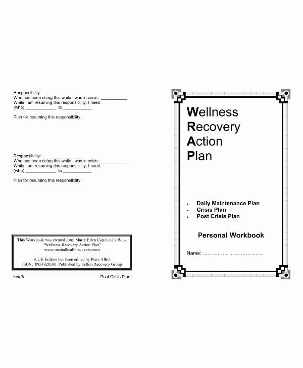 Wellness Recovery Action Plan Template Unique 11 Wellness