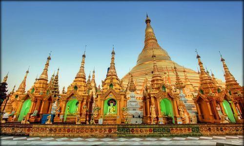 Pagoda dorada Myanmar