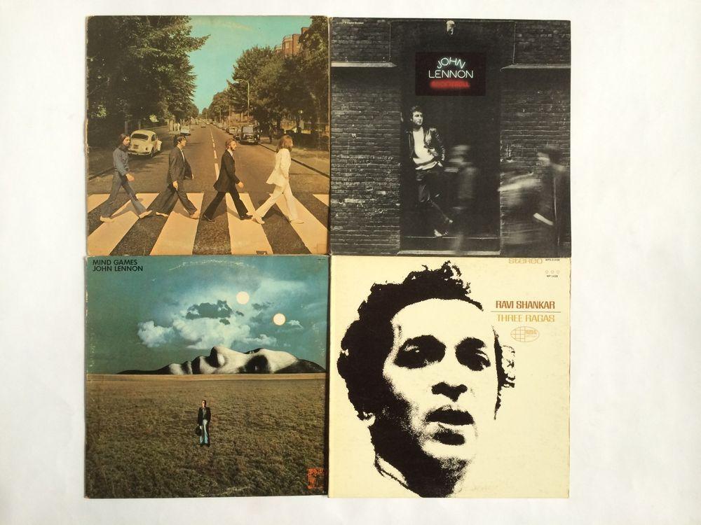 The Beatles John Lennon Ravi Shankar Lot Of 4 Abbey Road Mind Games Rock Roll Singersongwriter Classic Rock Albums Beatles Albums John Lennon Beatles