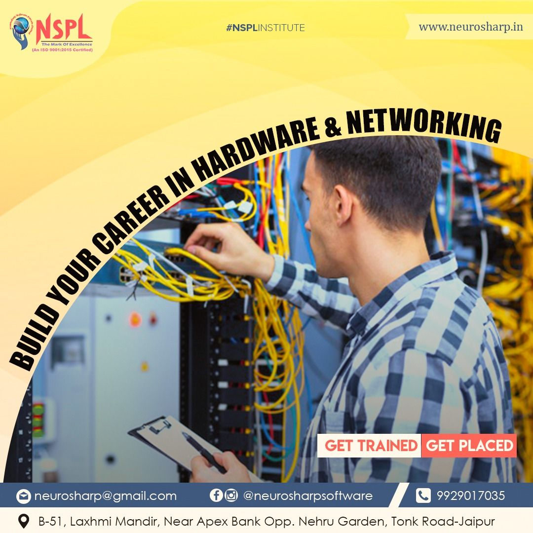 Neuro Sharp Hardware and Networking Insititute Neuro Sharp Software Pvt Ltd is well known for Hardware and Networking Institute in Jaipur for the best career as we are pr...