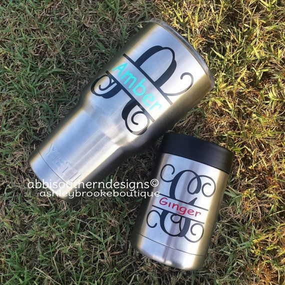 Yeti Custom Decal Yeti Rambler Custom By AbbiSouthernDesigns - Custom stickers for yeti cups