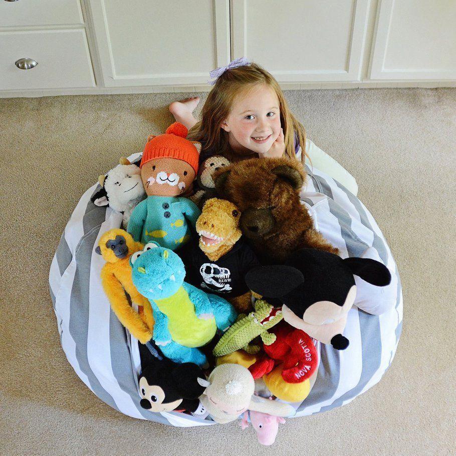 Stuffed Animal Storage Bean Bag Amazon Childrensbeanbagchairs