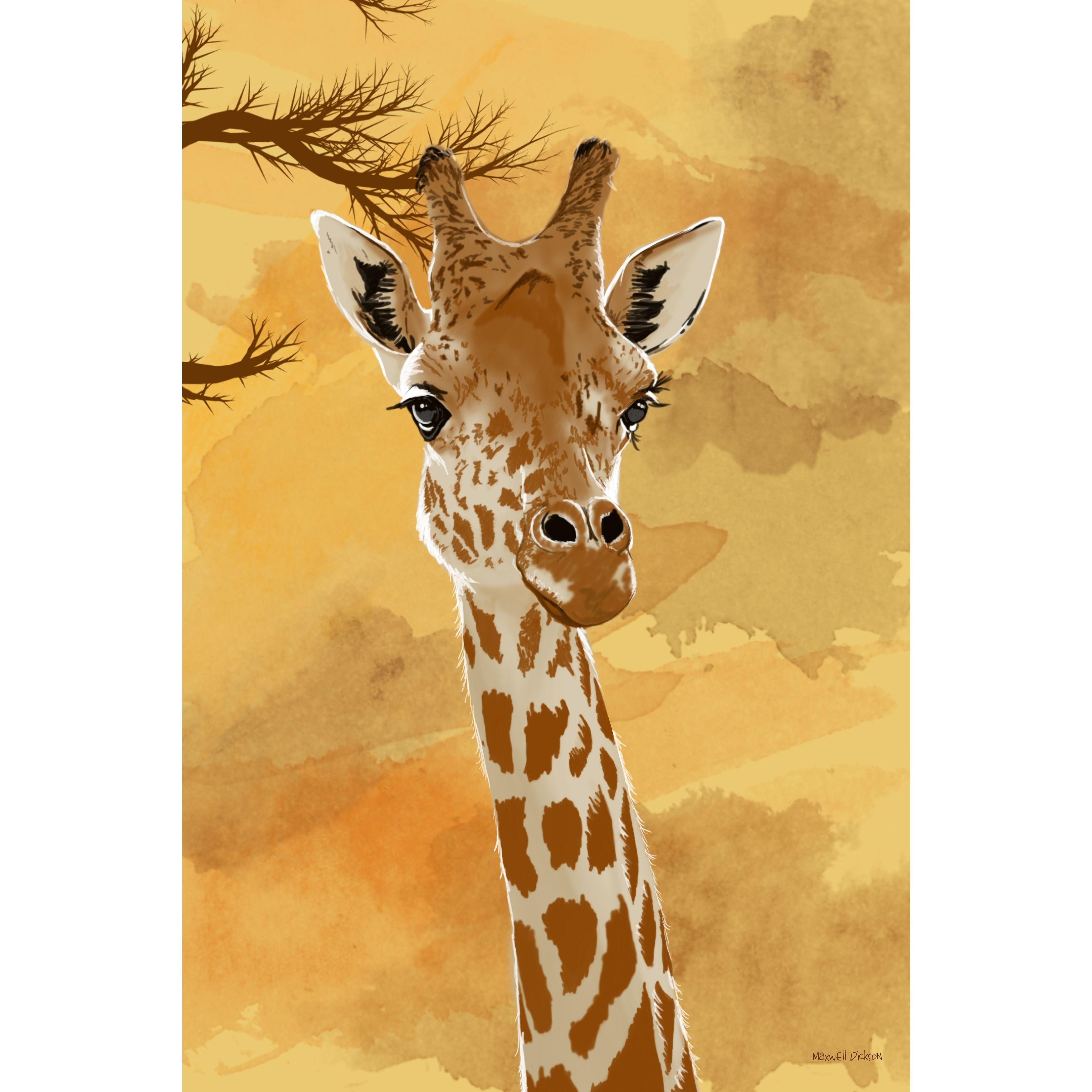 Maxwell Dickson \'Giraffe\' Wall Art | Products | Pinterest | Giraffe ...