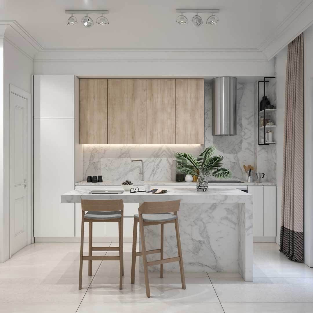 Minimalist Kitchen Design By Unknown Studio 3d Visualization By