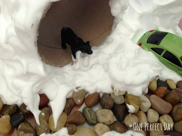 A Snowy Winter Sensory Tub - One Perfect Day