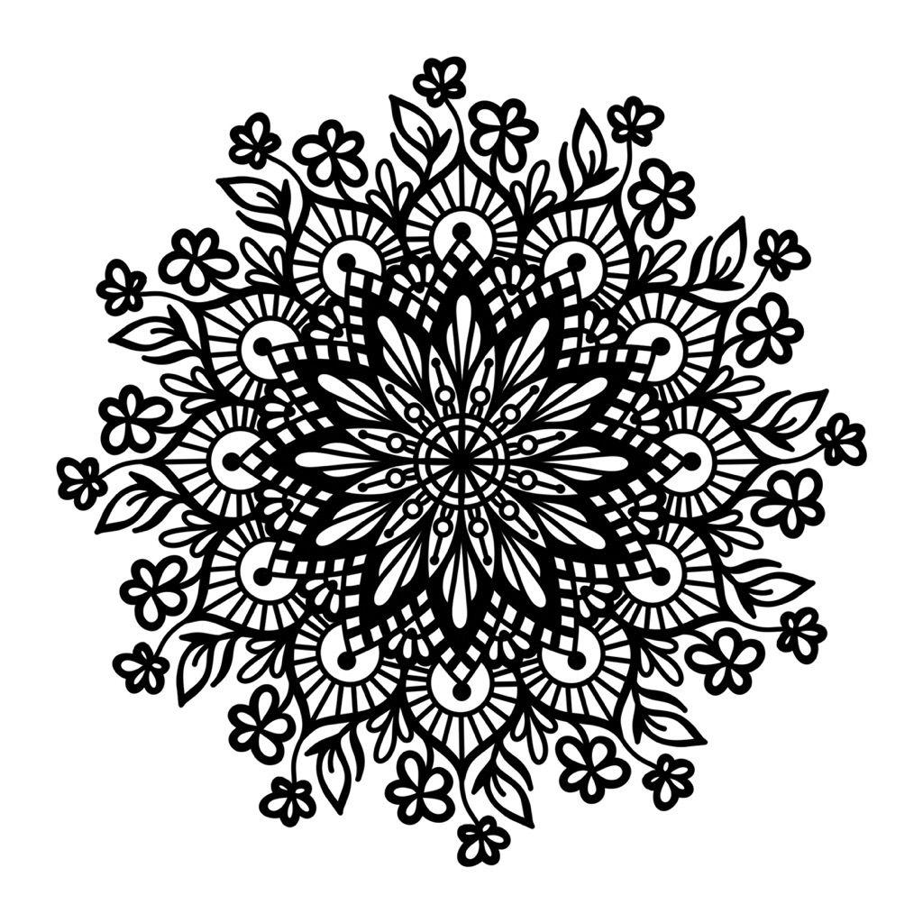 aufkleber mandala blumen sticker  mandala tätowierung