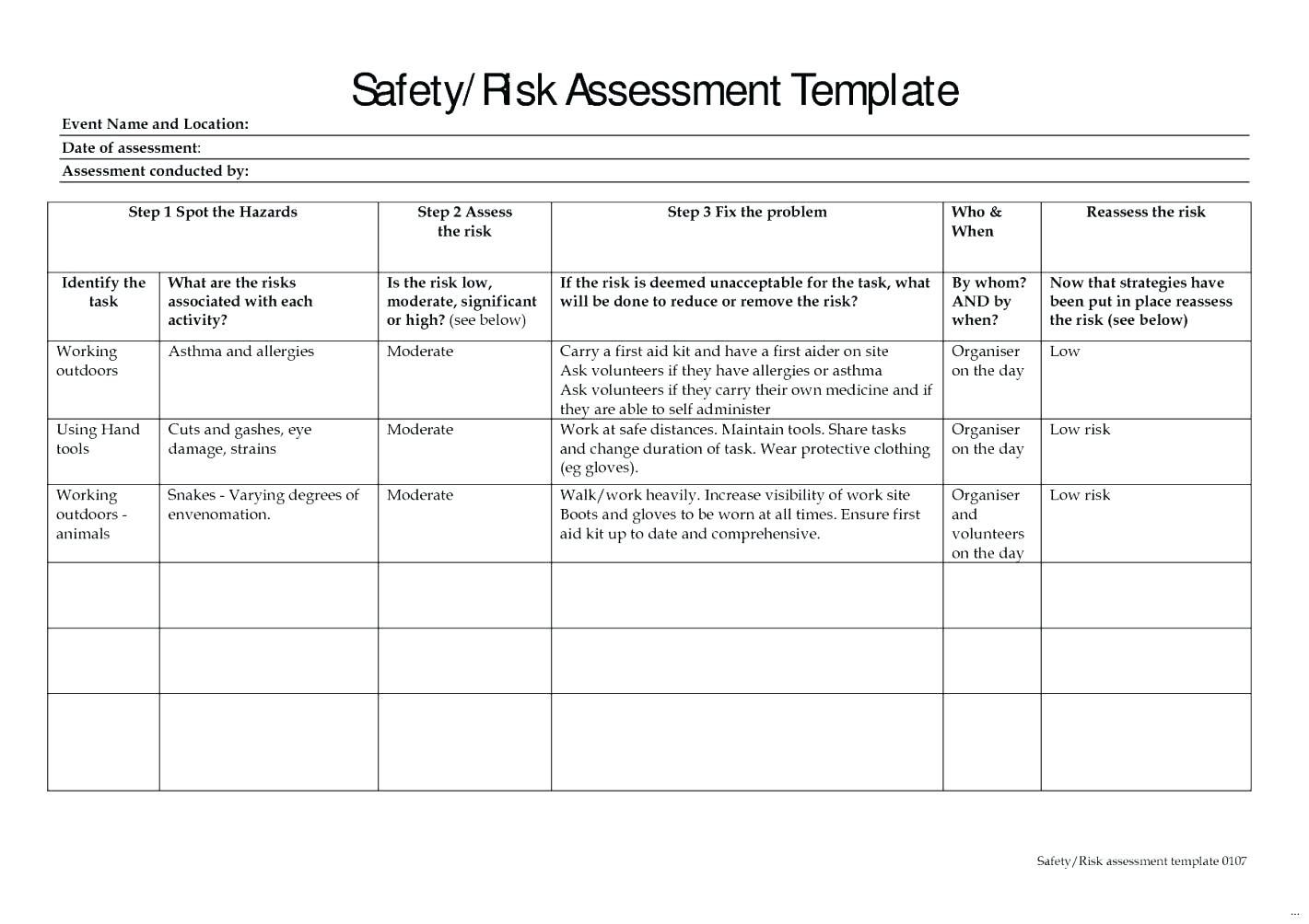 Risk Management Plan Example Construction Business Gallery