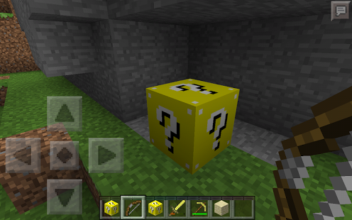 Lucky Gold Blocks Mod mcpe Tools, Application download