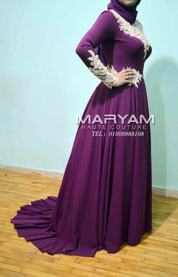 فستان سواريه باللون الموف للمحجبات Purple Hijab Soiree Dress Gothic Outfits Formal Dresses Long Formal Dresses