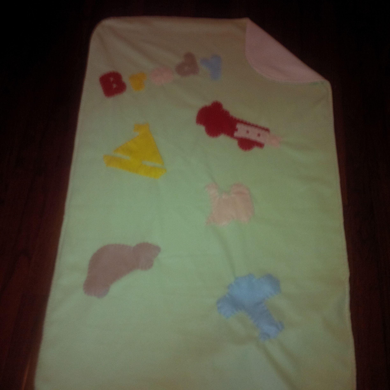 Fleece Baby Blanket: Mint Cream Transportation