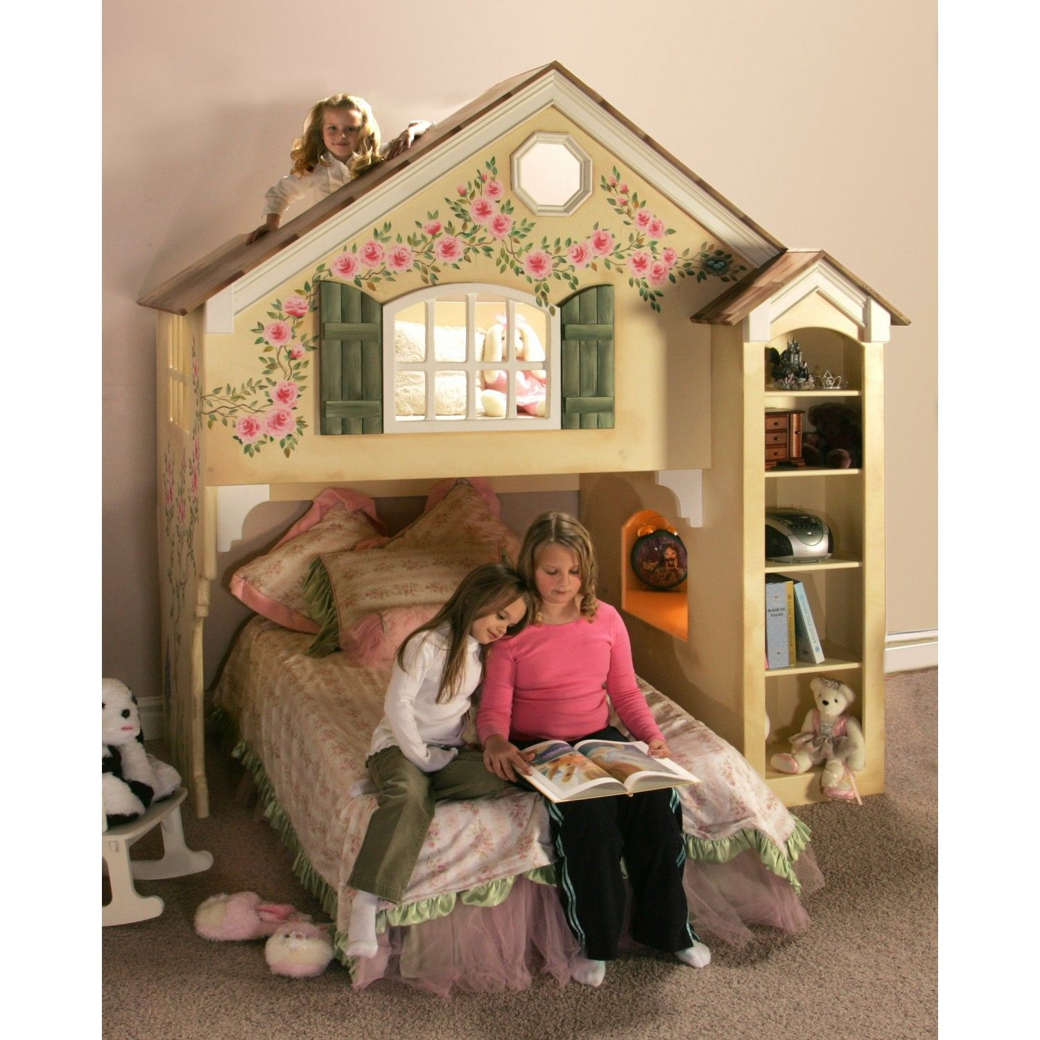 Blueprints For The Dollhouse Bunk Bed Twin Over Full Loft Bunk Beds Bunk Bed Plans Kids Bedroom Furniture