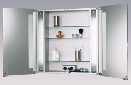 Badkamer spiegel kast met stopcontact | BAÑO / BATHROOM | Pinterest