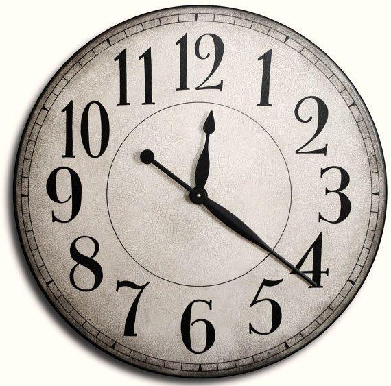 Large Wall Clock 24in CAMBRIDGE LINEN Gallery By JenniferClocks, $139.00  Living Room Clock Ausgefallene Wanduhren