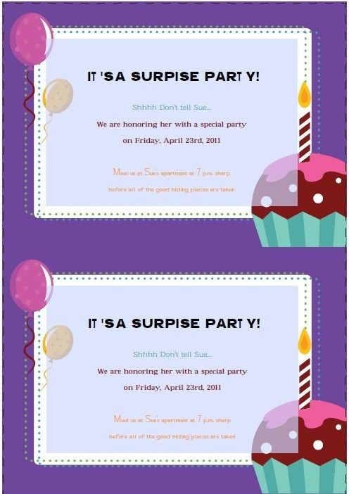 Retirement Party Invitation  Stationary Templates