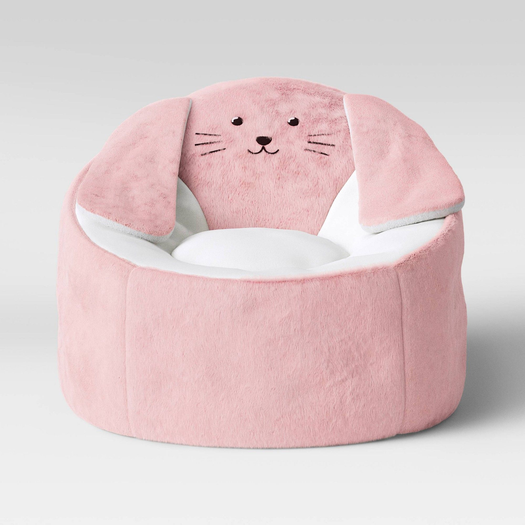 Kids Character Bean Bag Chair Bunny Pink Pillowfort Pink White Kids Character Bean Bag Chair Bean Bag Chair Pink Bean Bag Fuzzy Bean Bag Chair