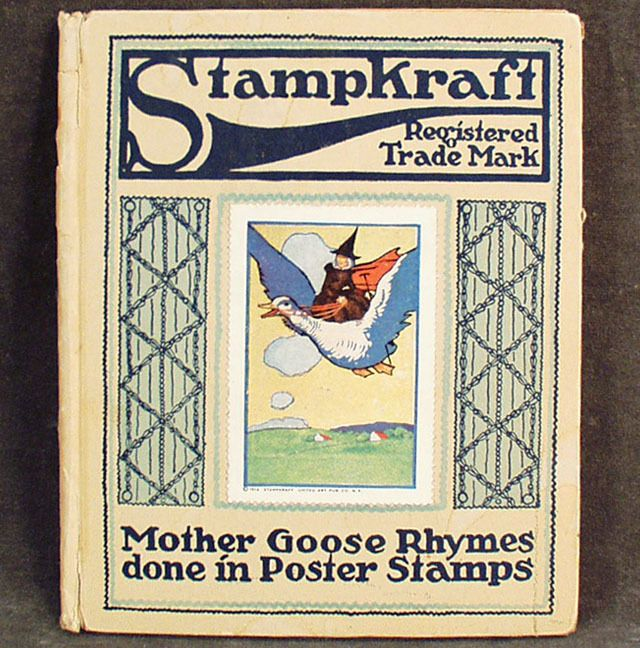 Old Book- Stampkraft Mother Goose Rhymes - Series 1 from ogees on Ruby Lane