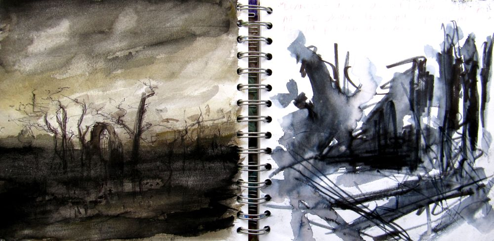 Landscape Painting: Using a Sketchbook by Hester Berry