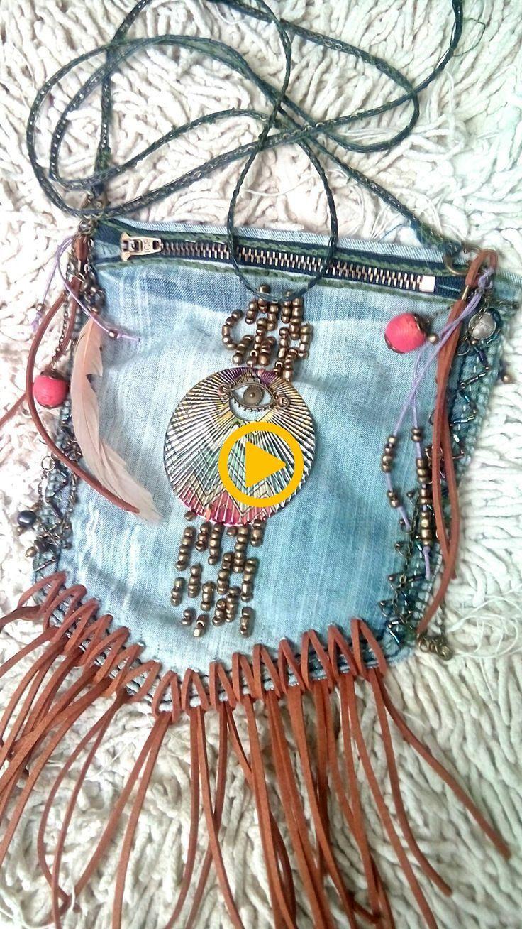 My first handmade bag in bohemian style. Boho, bohemian, gipsy, hippie, bags, ha