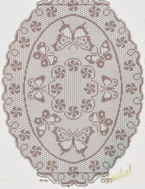 patrones de centros de mesa a crochet - Buscar con Google | Centros ...