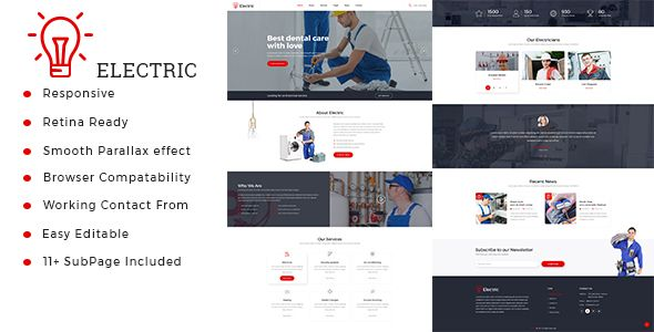 electric electrician repairing html template pinterest
